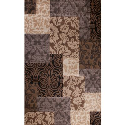 Concord Global Matrix Vintage Damask 6-Foot 7-Inch x 9-Foot 6-Inch Area Rug in Brown
