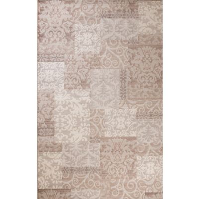 Matrix Fantasy Transitional Patchwork 7-Foot 10-Inch x 10-Foot 6-Inch Area Rug in Beige