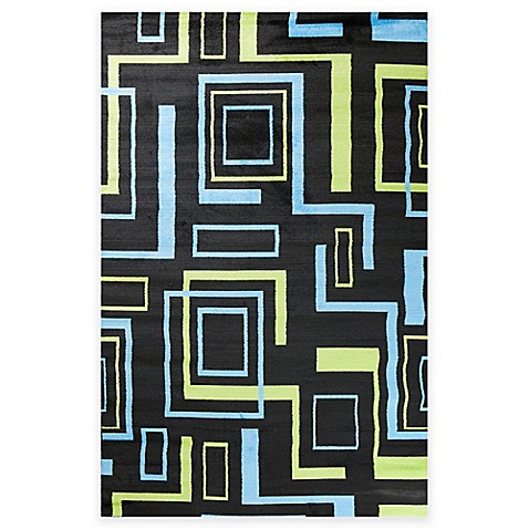 Concord global alisa boxes rug in black www for P s furniture concord vt