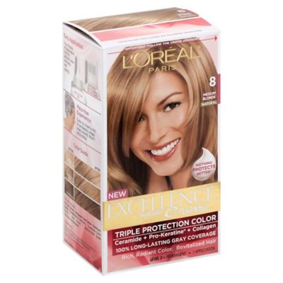 L'Oreal® Paris Excellence® Crà me Triple Protection Hair Color in 8 Medium Blonde