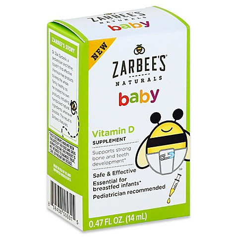 Zarbee S 174 Naturals Baby 47 Oz Vitamin D Supplement