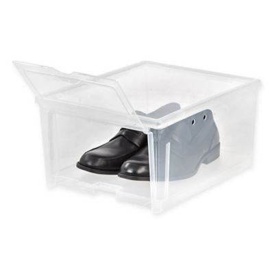 IRIS USA Clear Men's Shoe Box