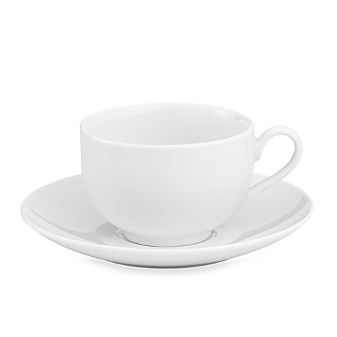 Everyday White® by Fitz and Floyd®  Coupe 8 oz. Cup and Saucer