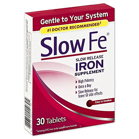 Slow Fe 174 30 Count Slow Release Iron Supplement Www