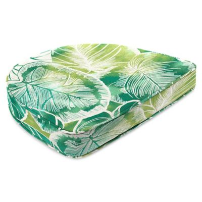 Outdoor Contoured Boxed Seat Cushion in Keycove Lagoon