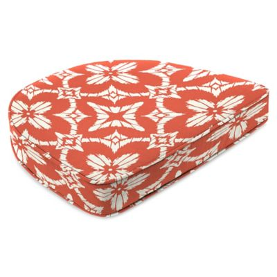 Outdoor Contoured Boxed Seat Cushion in Aspidora Coral