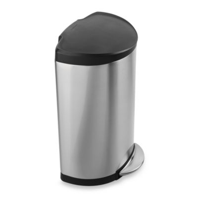 simplehuman® Smartbucket™ 40-Liter Semi-Round Step-On Trash Can