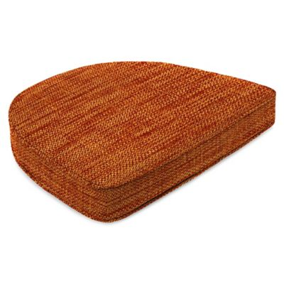 Outdoor Contoured Boxed Seat Cushion in Remi Cayenne