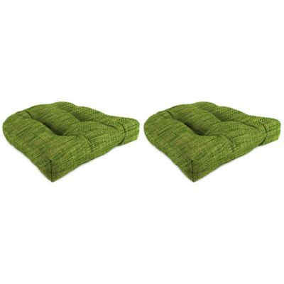 Outdoor Wicker Chair Cushions in Remi Palm (Set of 2)
