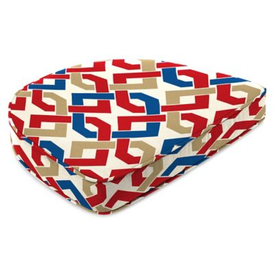 Outdoor Contoured Boxed Seat Cushion in Rieser Patriot