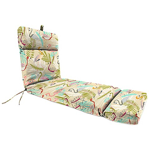 Buy outdoor chaise lounge cushion in flamingos spring from for Buy outdoor chaise lounge