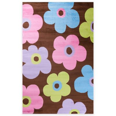 Concord Global Alisa Ditsy Flowers 5-Foot x 7-Foot Area Rug in Brown