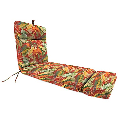 Buy outdoor chaise lounge cushion in tomesa fireball from for Buy chaise lounge cushion