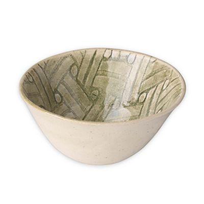 Wonki Ware All Purpose Bowl in Green Basket Weave