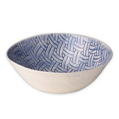 Wonki Ware Small Salad Bowl in Blue Basket