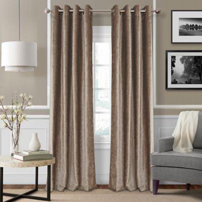 Elrene Victoria 95-Inch Room-Darkening Grommet Top Window Curtain Panel in Taupe