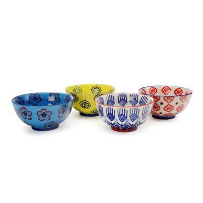 Signature Housewares Print 11 5-Inch Utility Bowls (Set of 4)