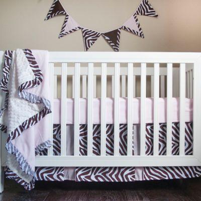Pam Grace Creations Zara Zebra 4-Piece Crib Bedding Set