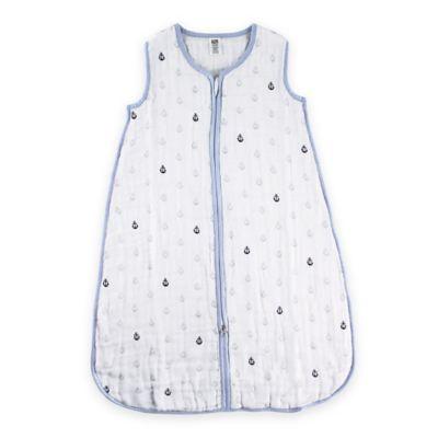 BabyVision® Hudson Baby® Size 6-12M Anchors Muslin Sleeping Bag