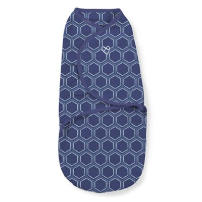 Summer Infant® SwaddleMe® Small 2-Pack Honeycomb Swaddle Adjustable Infant Wrap in Navy