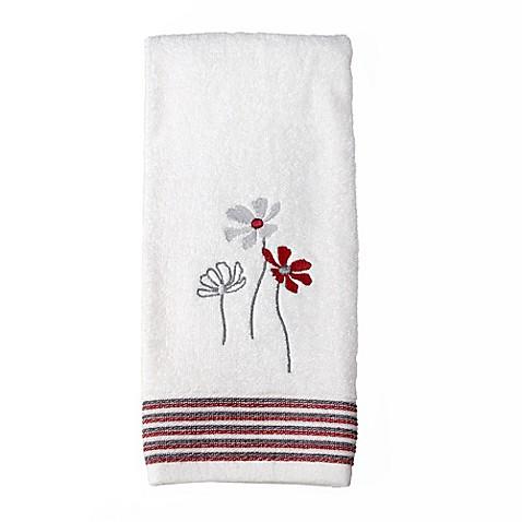 Buy Evan Stripe Hand Towel In White From Bed Bath Beyond