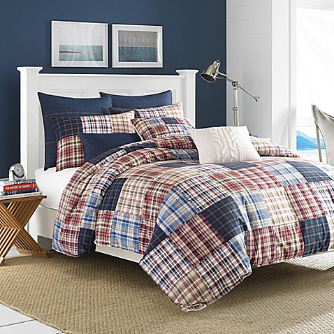 Nautica 174 Blaine Comforter Set In Red Bed Bath Amp Beyond