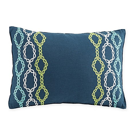 Trina Turk Kimono Chains Oblong Throw Pillow in Blue - Bed Bath & Beyond