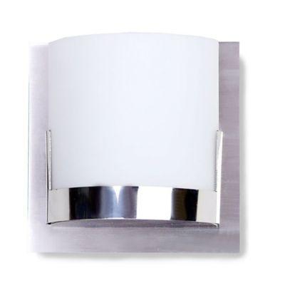George Kovacs® Convex 1-Light Bath Light with Chrome Glass Holders