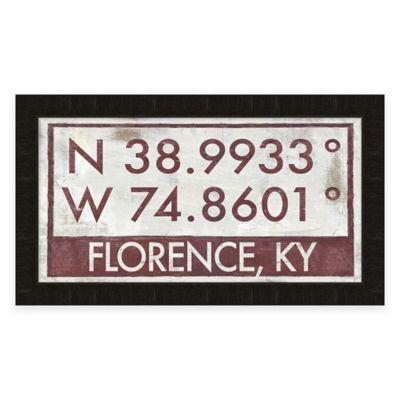 Buy Keeneland Kentucky Coordinates Framed Wall Art From