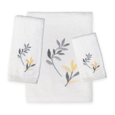 Buy Polly Yellow Fingertip Towel From Bed Bath Amp Beyond