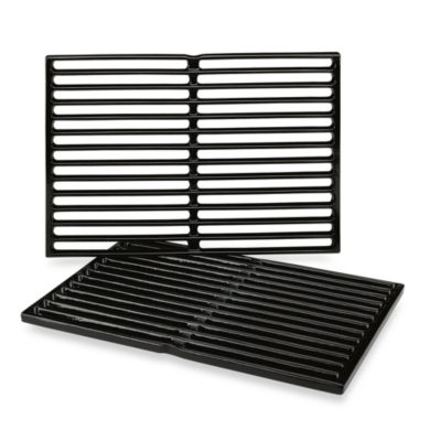 Weber® Porcelain-Enameled Cast Iron Cooking Grates (Set of 2)