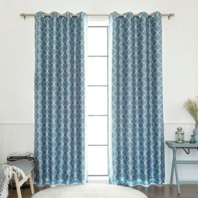 buy light blue blackout curtains from bed bath beyond. Black Bedroom Furniture Sets. Home Design Ideas