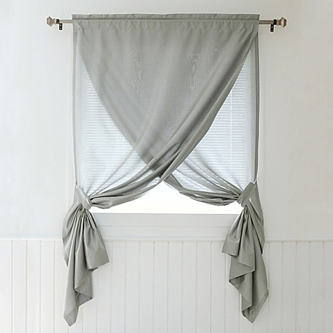 Decorinnovation Faux Silk 84 Inch Overlapping Rod Pocket Window Curtain Panel And Tie Backs