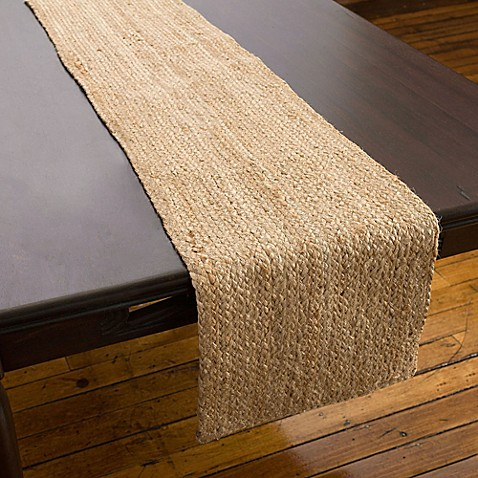 Willow Table Runner In Natural Www Bedbathandbeyond Com
