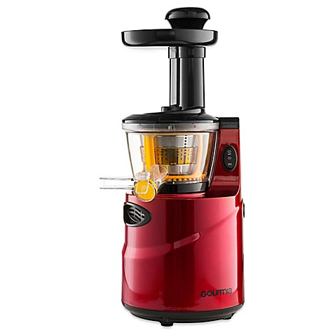 Gourmia Masticating GSJ200 Slow Juicer in Red - www.BedBathandBeyond.com