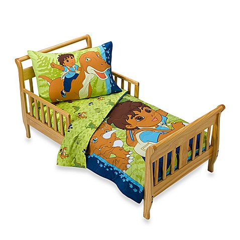 Go diego go safari 4 piece toddler bedding set bed bath for Go diego go bedding