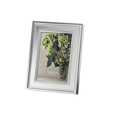 Vera Wang Wedgwood® Grosgrain 4-Inch x 6-Inch Metal Frame