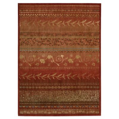 Radiant Impressions 5-Foot x 7-Foot Room Size Rug in Crimson
