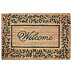 J&M Home Fashions 24-Inch x 36-Inch Olive Leaves Door Mat in Brown