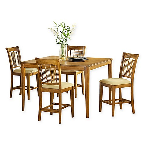 Hillsdale Bayberry 5 Piece 54 Inch Rectangular Dining Set In Oak Bed Bath