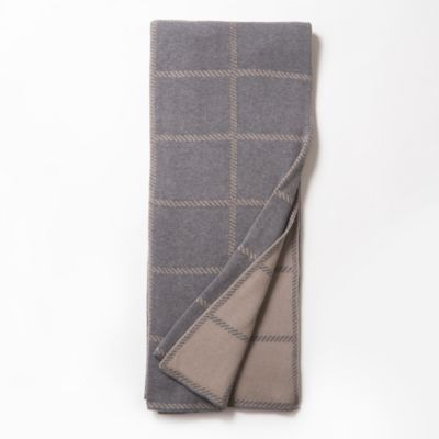 Amity Home Frankie Drake Cotton Knitted Throw in Grey