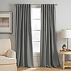 Abbeville 63-Inch Rod Pocket/Back Tab Window Curtain Panel in Charcoal
