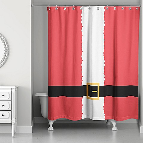 Santa Suit Shower Curtain In Red White Www