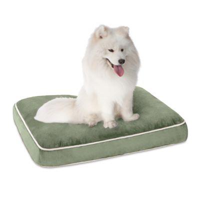 Keegan Memory Foam Orthopedic Napper Medium Pet Bed in Silver Green
