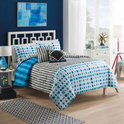 Vue Zazu Reversible King Comforter Set in Blue