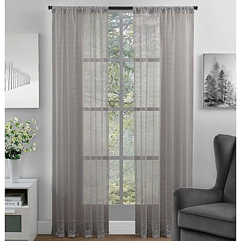 Chevron Lace Rod Pocket Window Curtain Panel Bed Bath