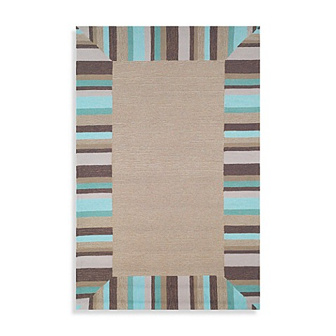 Tommy Bahama Beach Comber 3-Foot 6-Inch x 5-Foot 6-Inch Accent Rug in Surf