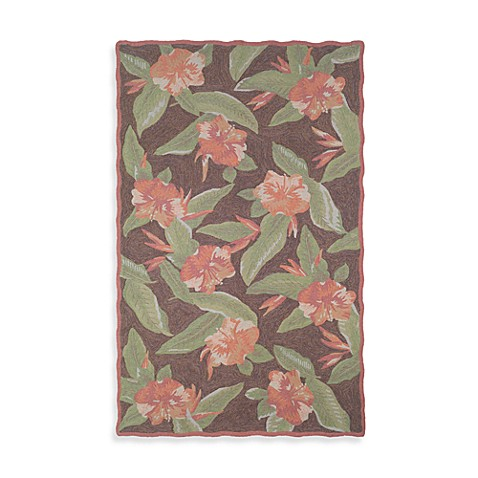 Hibiscus Tobacco 5-Foot x 8-Foot Room Size Rug by Tommy Bahama