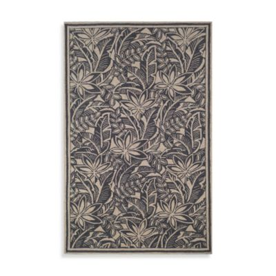La Baker Black Accent Rug by Tommy Bahama - 3-Foot 6-Inch x 5-Foot 6-Inch