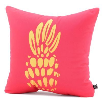DENY Designs Allyson Johnson Neon Pineapple Square Throw Pillow